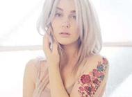 美女花臂彩绘纹身图片引领时尚