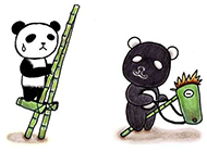 卡通可爱熊猫创意插画图片