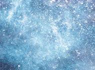 冰雪风景海报蓝色背景图