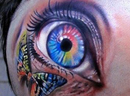 个性神秘奇异眼睛纹身