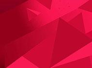 ppt红色几何渐变背景图片