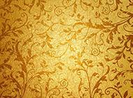 带金色花纹的古典背景图片