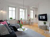 75平米白色简约风格精装公寓设计图