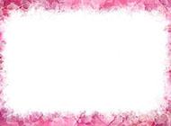 简单粉红色的花边背景图片