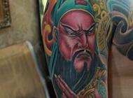 关公手臂纹身刺青图案霸气经典