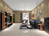 中式现代客厅混搭装修效果图欣赏