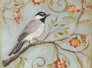 画工精致唯美的写意花鸟国画图片
