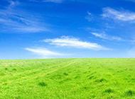 蓝天草地背景素材清新怡人