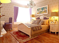 卧室地中海明亮色彩温馨装修效果图