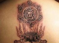梵文纹身图案霸气后背纹身欣赏