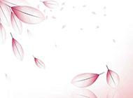 红色粉色梦幻树叶背景图
