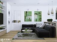 唯美小清新绿色搭配家居设计效果图