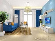 欧式小户型客厅窗帘效果图
