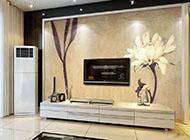现代简约耐看客厅电视背景墙装修效果图