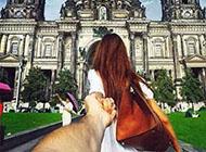 牵手甜蜜浪漫情侣图片左