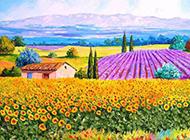 美丽的花园油画图片赏析
