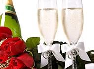 浪漫情人节香槟玫瑰图片