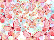 飞舞的蝴蝶婚礼背景图片大全