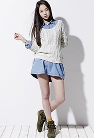 韩星安昭熙代言时尚服装宣传照