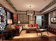 简单中式时尚客厅装修效果图大全