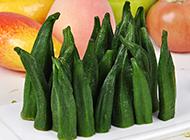 绿色的蔬菜秋葵图片