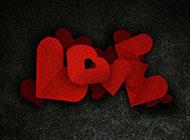 高清爱情红色剪纸背景图片