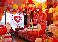 中国式浪漫满屋婚房卧室布置效果图
