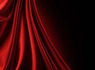 中式婚礼大屏幕红色丝绸背景图