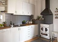 简欧厨房时尚装修效果图素雅纯白