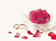 素雅玫瑰浪漫求婚背景图