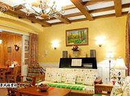 温馨田园风格客厅吊顶装修效果图
