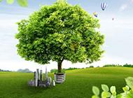 绿色遮天大树图片素材
