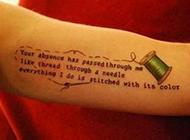 英文纹身洋气又个性十足