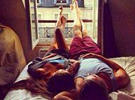 情侣浪漫阳光清晨图片