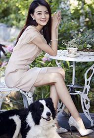 女星徐璐清新优雅唯美花园写真