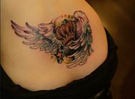 绚丽艺术彩色纹身图片