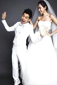 林志颖夫妇搞怪创意婚纱照微博曝光