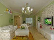 欧式田园风复式客厅装修效果图