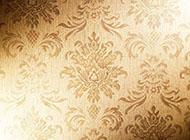牡丹花3d刺绣金色背景图片