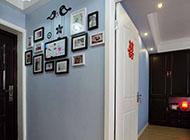 美式简约玄关相片墙设计效果图
