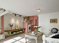 小型复式公寓美式田园风格装修图片