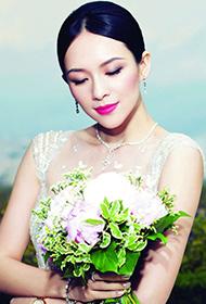 现在汪峰的老婆章子怡唯美婚纱大片