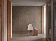灰色墙壁隐形门装修效果图