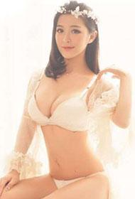 美女模特龚叶轩透明薄纱唯美梦幻写真