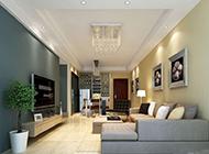 公寓客厅背景墙装饰时尚精致
