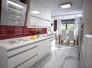 现代简约干净厨房装修效果图欣赏