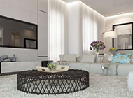 灰白色调现代简约时尚公寓装修效果图