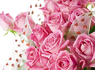 浪漫粉色玫瑰花束高清大图