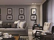 后现代风格客厅相片墙设计图片