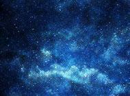 繁星点点的蓝色星空背景高清图片